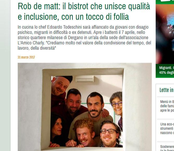 REDATTORE SOCIALE: Rob de matt: il bistrot che unisce qualità e inclusione, con un tocco di follia